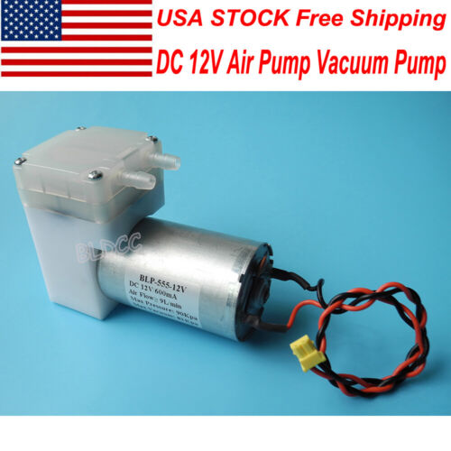DC 12V Aquarium Air Pump 6~16V Aspirator Vacuum Pump Diaphragm Pump DIY Massager