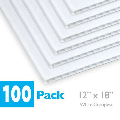 12 X 18 Blank White Coroplast - Corrugated Plastic For Art Projects Signs