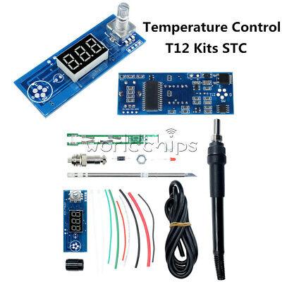 Digital Soldering Iron Station T12 Tip Temperature Controller Handle Kit F Hakko