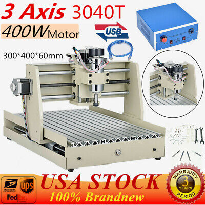 Usb 3axis 3040 Router Engraver Milling Drilling Machine Wood Pcb 400w Motor Usa