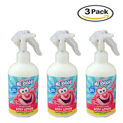 Mr. Bubble Body Lotion Trigger Spray With Shea Butter 10 Fl Oz (Pack Of 3)