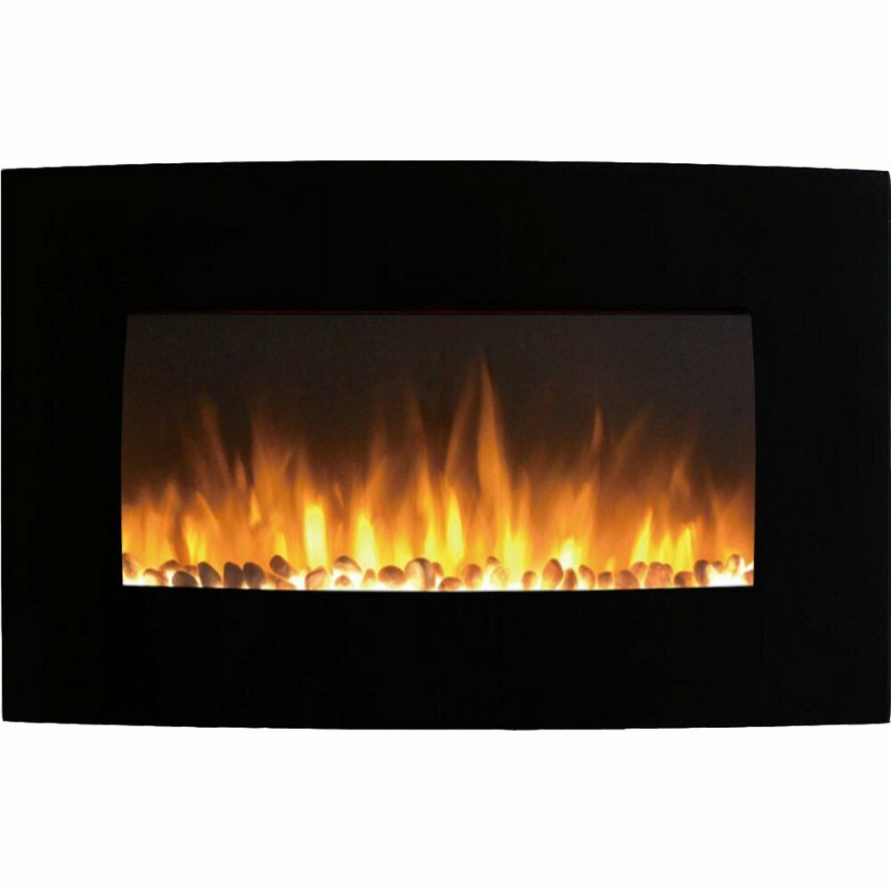 """Regal Flame Broadway 35"""" Pebble Ventless Heater Electric Wal"""