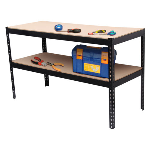 1 5m Heavy Duty Metal Workbench For Garage Workshop Shed Work Bench Station Ebay
