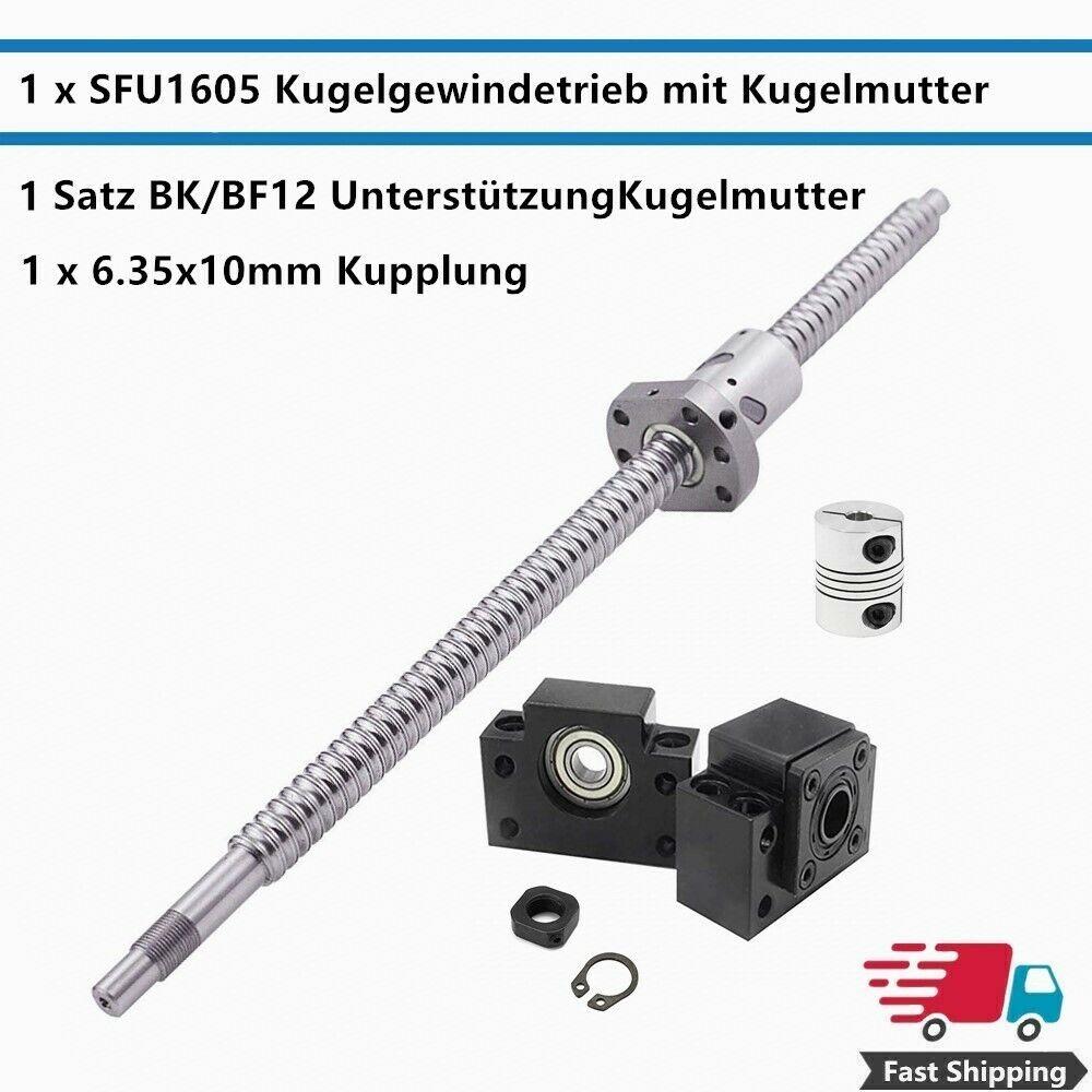 BK12//BF12 End Kugel SFU 1605 Set L300mm-C7 mit Muttern Support Koppler