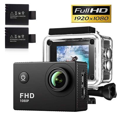 "Gaminol Waterproof Camera Full HD 1080p Action Sports Cam 2"" LCD Display"