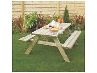 Garden Picnic Table 1700 x 1510 x 680mm £90 Sale