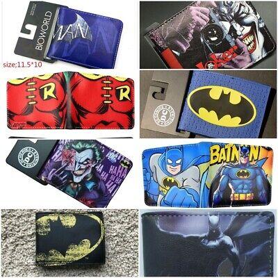 Multi Style Batman Boys Men Wallet New Superhero Cartoon Free Tracking