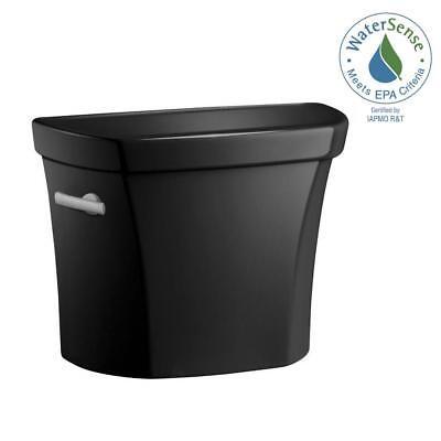KOHLER K-4467-U-7 Wellworth Black 1.28 GPF Single Flush Toilet Tank Only (Black Wellworth Toilet Tank)