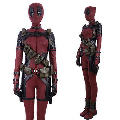 Deadpool Women Costume  Superman Cosplay Costume Outfit Halloween Costume