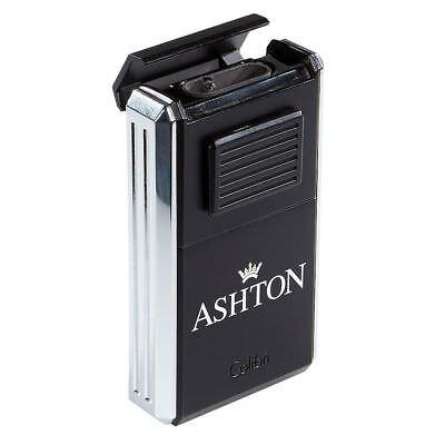 COLIBRI Ashton Astoria Triple Torch Cigar Lighter & Cutter - Chrome/Black - New