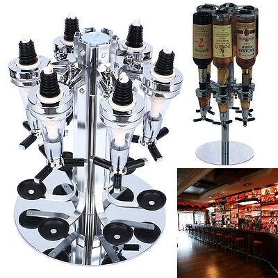 Bar Butler Wall Mounted Wine Alcohol Liquor Cocktail Beer Shot Dispenser 6Bottle