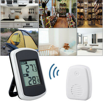 FUNK Temperatur station Thermometer digitales Innen & Außen-Thermometer Wetter