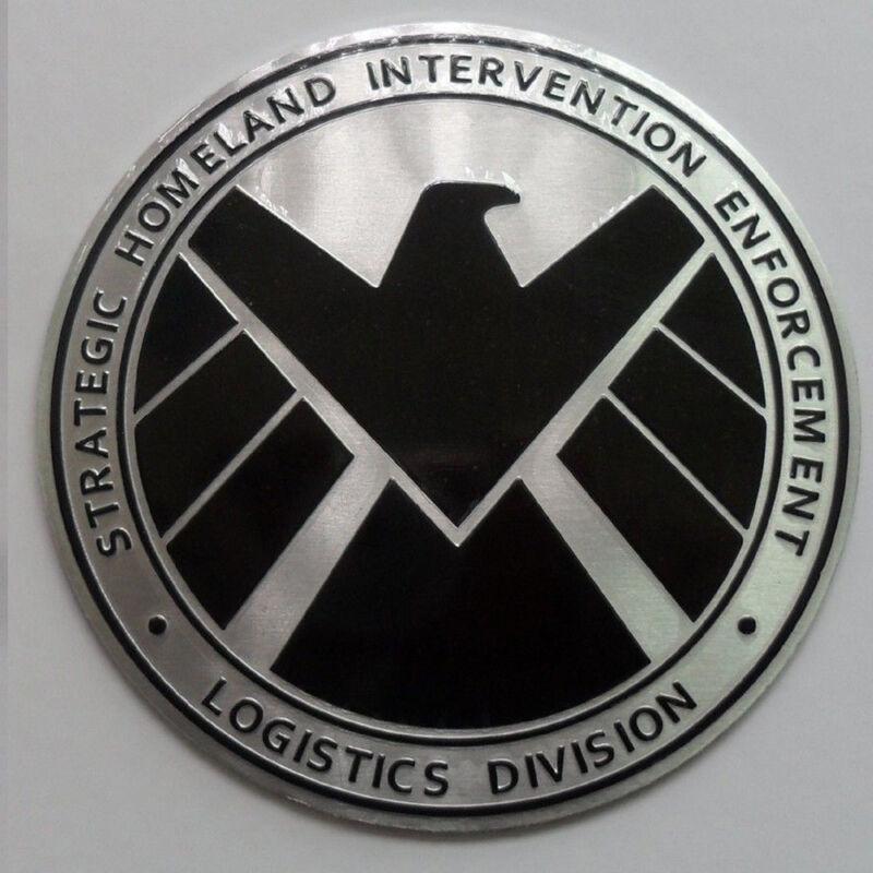 Avengers Agents of 3D SHIELD Chrome Metal Car Sticker Badge Emblem Decals