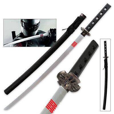 "GI JOE SNAKE EYES Ninja Movie Full Tang Katana Sword  Action Black 40"""