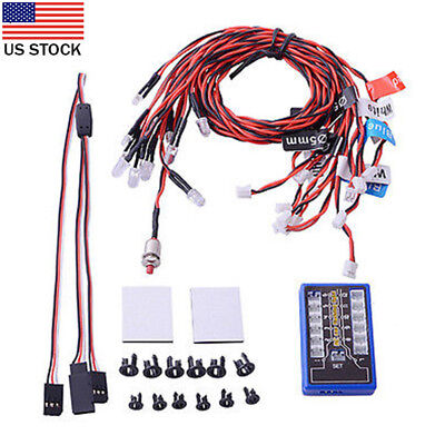New Highlight 12 LED Flashing Light System for RC Cars G.T.POWER 1/10th Scale US