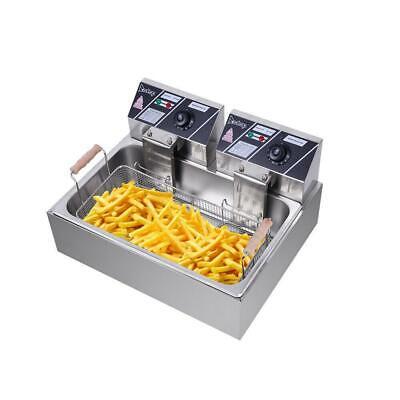 5000w Electric Deep Fryer 12liter Commercial Tabletop Restaurant Fry Basket 12l