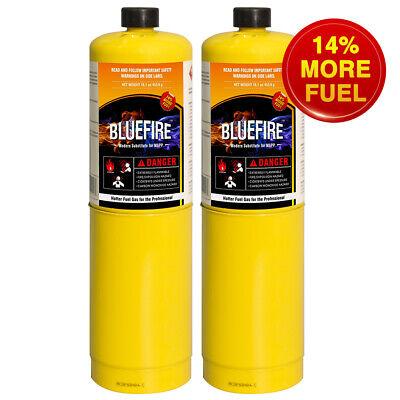 Bluefire 2x Mapp Map Pro Gas Fuel Cylinder16.1oz14 Bonushotter Than Propane