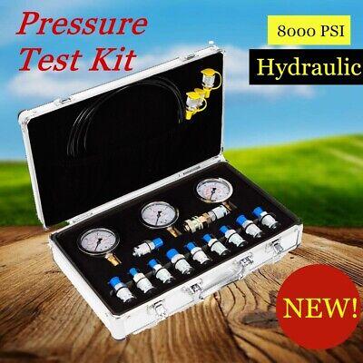 G18 Connector Couplings Pressure Gauge Excavator Hydraulic Pressure Tester Kit