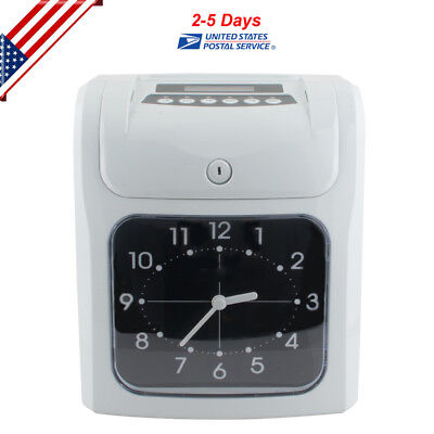 Employee Attendance Punch Time Clock Payroll Recorder Lcd Display Office Tool Us