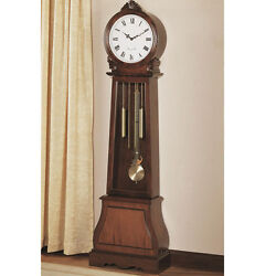 Traditional Vintage Grandfather Clock Floor Westminster Pendulum Chimes Brown