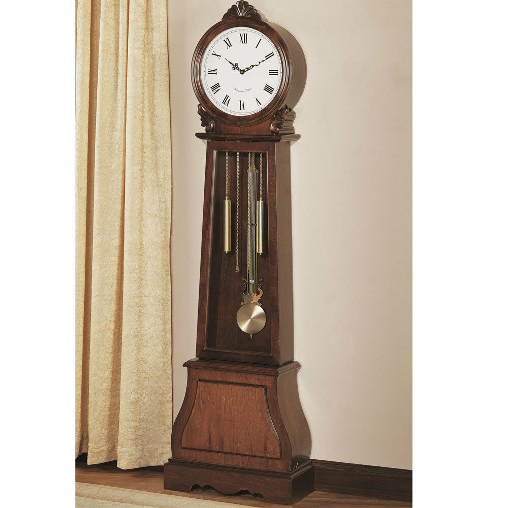 traditional vintage grandfather clock floor westminster pend