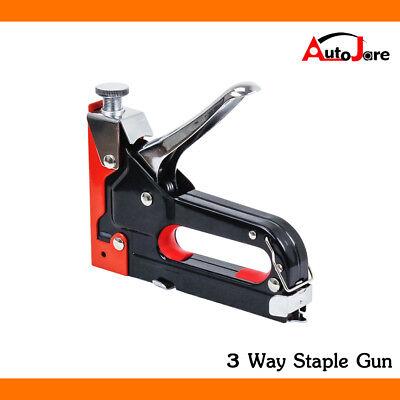 - Heavy Duty Nail Staple Gun Kit 3 IN 1 Stapler Tacker With 900 Staples Upholstery