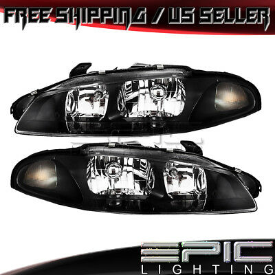1997-1999 MITSUBISHI ECLIPSE Headlights Headlamps - Left Right Sides Pair