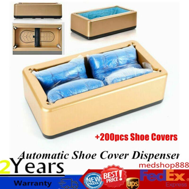 Auto Shoe Cover Dispenser Machine +200PCS Shoe Cover For Home Office Lab Clean