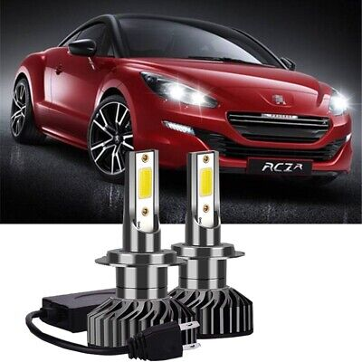 Peugeot 207 55w Super White Xenon HID Low Dip//LED Side Light Headlamp Bulbs Set