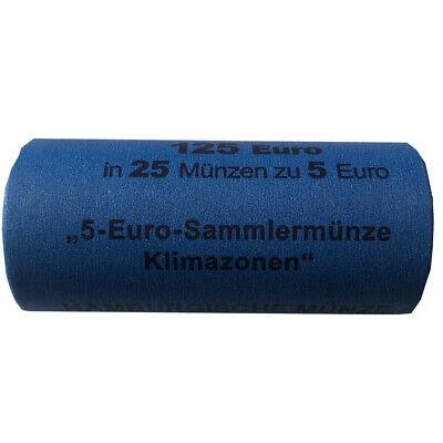 Sammlermünze Gemäßigte Zone 2019 in Stempelglanz Prägebuchstabe J 25er Rolle