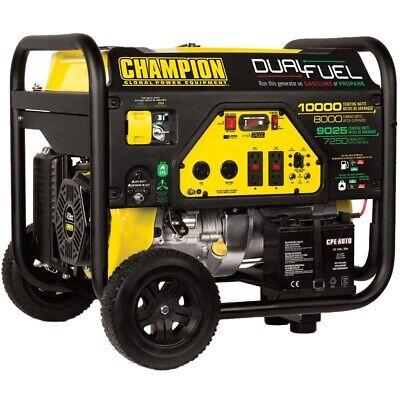 Champion 100297 - 8000 Watt Electric Start Dual Fuel Portable Generator Carb