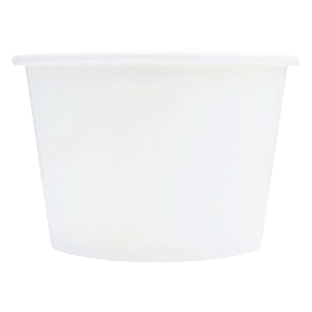White Ice Cream Paper Cups - 8 oz Disposable Birthday Party