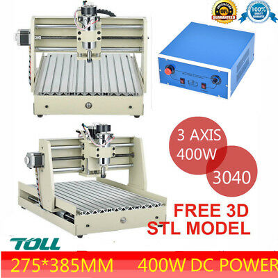 3 Axis 3040 Cnc Engraving Drilling Milling Machine 400w Dc Power 3d For Industry
