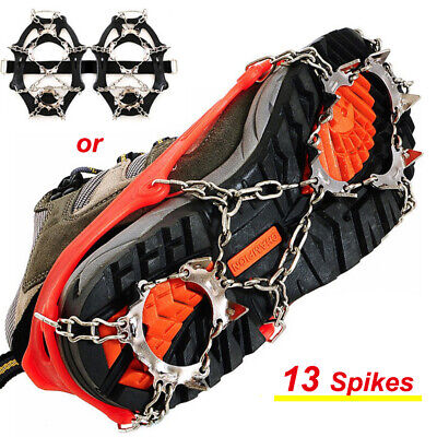 13 Spikes Ice Traction Cleats Crampons Climbing Gripper Anti-slip Shoe Covers
