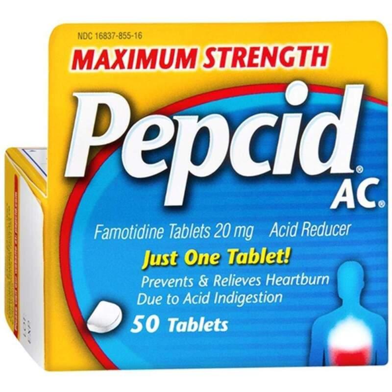 Pepcid AC Acid Reducer, Maximum Strength Heartburn Tablets, 50ct - EXP: 05/2020