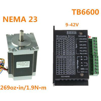 Nema 23 Stepper Motor 1.9 N.m 3.6v3a Driver Tb6600 For Cnc