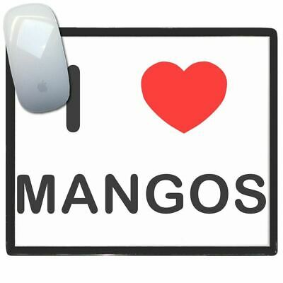 I Love Heart Mangos - Thin Pictoral Plastic Mouse Pad Mat Badgebeast