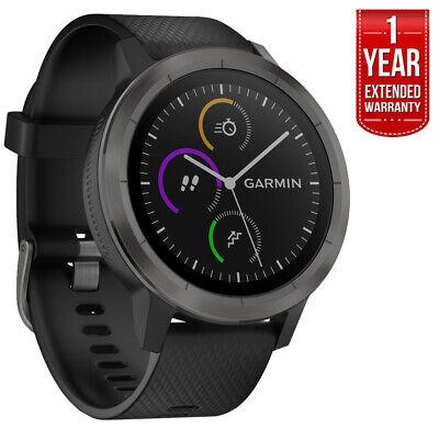 Garmin Vivoactive 3 GPS Fitness Smartwatch (Black & Gunmetal) + Extended Warrant