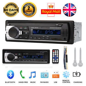 UK Car Radio Bluetooth Stereo Head Unit MP3/USB/SD/AUX-IN/FM In-dash Player 1DIN