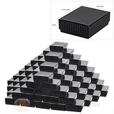 100 Black Pinstripe Cotton Filled Boxes 2 18 X 1 58 Jewelry Box