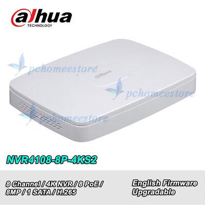 Dahua NVR4108-8P-4KS2 8 Channel Smart 1U 8PoE 4K&H.265 Lite Network Video Reco