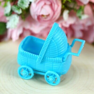 12 pcs Blue Plastic Carriage Boy Baby Shower Favors Party Birthday Decorations