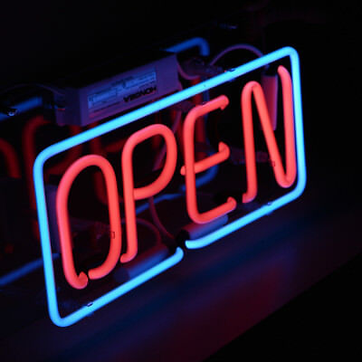 Open Neon Sign Light Real Glass Coffee Shop Club Beer Bar Pub Art Window Poster