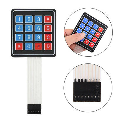 5x Membrane Switch Keypad For Arduino 16 Key Keyboard 4 X 4 Avr Matrix Array New