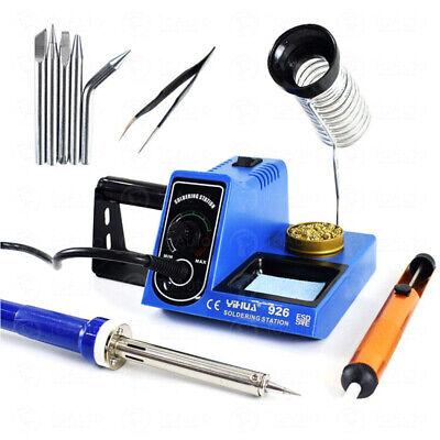 60w 110v Smd Rework Soldering Iron Station Kit Tips Tweezer Solder Welding Tool
