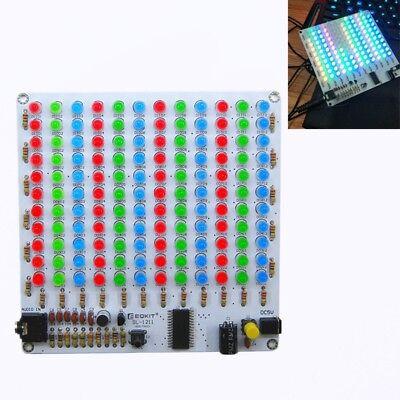 Audio Spectrum 12x11 Redgreenblue Diy Kit Level Indicator Voice Spectrum Light