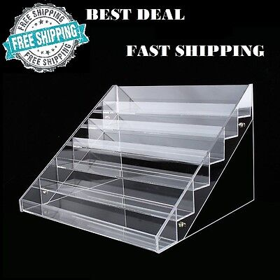 60 Bottles Nail Polish Display Stand Makeup Organizer Holder Rack Clear Acrylic