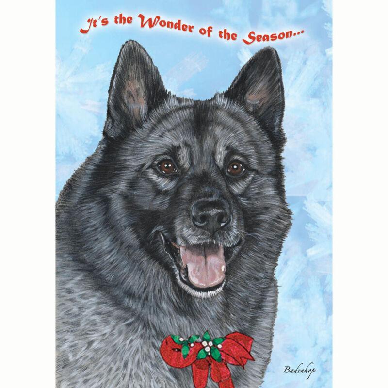 Norwegian Elkhound Christmas Cards Set of 10 cards & envelopes
