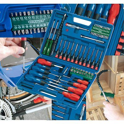 Draper Screwdriver Set 70 Pc Socket Bit Tool Kit Set Precision Mechanics 40850