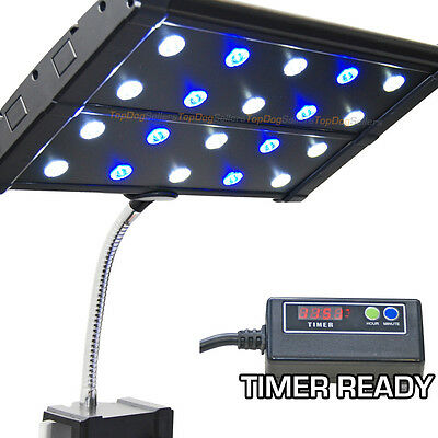 EVO Quad Clip 3W Timer Ready LED Aquarium Light Nano Marine Coral Reef 20x 3W